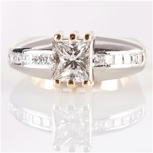 Platinum & 18k Yellow Gold Zultan David Two-Tone Diamond Engagement Ring 1.07ctw