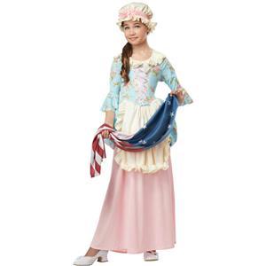 Girls Colonial Lady Betsy Ross Martha Washington Child Costume Large 10-12