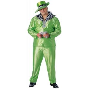 Lime Green Plus Size Big Daddy Pimp Full Figure Adult Costume