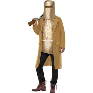 Men's Wild West Ned Kelly Outlaw Faux Armour Adult Costume Size Medium