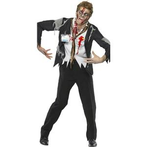 Men's Worked To Death Office Worker Zombie Costume Adult Male Large
