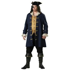 Adult Plus Size Premier Captain Cutthroat Pirate Costume 2XL
