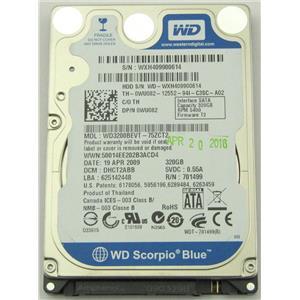 "Western Digital WD3200BEVT 2.5"" SATA 8MB 3.0Gb/s 320GB HDD 5400RPM 0WU082"