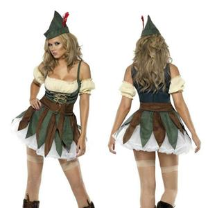 Smiffys Women's Fever Sexy Outlaw Adult Ladies Robin Hood Costume Size XS 2-4