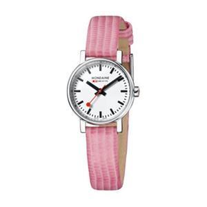 Mondaine Swiss Railways Watch A658.30301.11SBP. Ladies Evo Petite Pink Strap