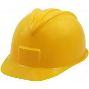 Miner Hardhat Yellow Construction Worker Hard Plastic Helmet Hat Ages 3 and up