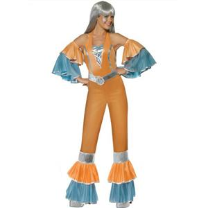 Smiffy's Womens 70's Frilly Fantastic Female Adult Costume Jumpsuit Medium 10-12