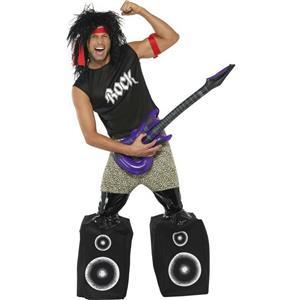 Men's Midget Rocker Standing on Speakers Funny Adult Costume Size Medium