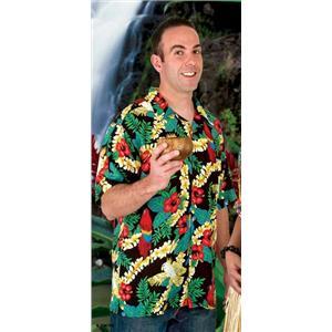Tropics Express Island Rayon Men's Hawaiian Camp Shirt Size XL