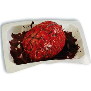 Bloody Banquet Brain in a Butcher's Meat Tray Halloween Party Prop Decoration