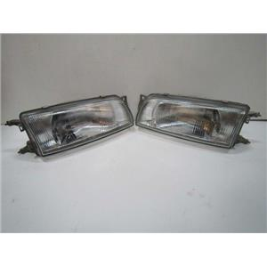 jdm fits Mitsubishi Lancer GSR EVO 1 2 3 4G63 FRONT GLASSES HEAD LIGHT LAMP SET