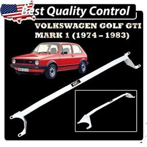 DD 2~Point Solid Stability Steel Front Strut Bar ~ Volkswagen Golf MK1 Mark1 GTi