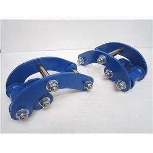 Extended 2~inch Comfort Blue Shackles for Navara Frontier Bravado D22 98-04