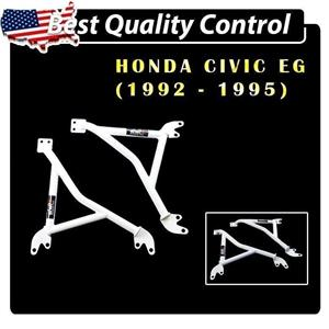 DD 3~Points STeel Fender Brace Bar Arm Suits Honda Civic EG 1992-1995 EG6 EG9