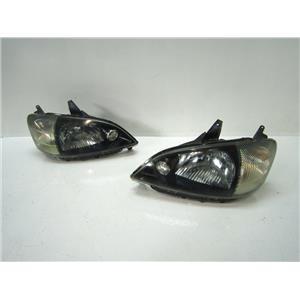 JDM GENUINE FRONT BLACK FACE HEAD LIGHT LAMP 95-00 SET B for DAIHATSU YRV K3