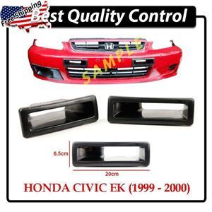 DD FRP Front Bumper Air Duct Vents ~ Honda Civic EK9 Hatchback Couple 99-00 Vtec