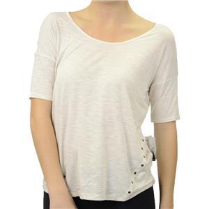 S Kensie Heather Birch Slub Jersey Cap Sleeve Top Viscose/Linen Rivit KS2K3019