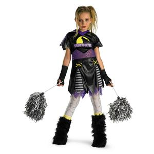 D/ceptions Werewolf Wolf Pack Leader Cheerleader Child Girls Costume Medium 7-8