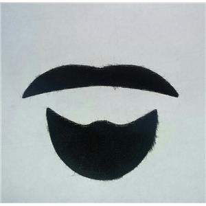 Black Sheik Mustache Facial Hair Disguise