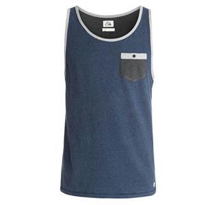 Quiksilver Baysic Pocket Tank Grey/Blue Medium