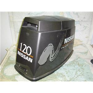 Boaters' Resale Shop of Tx 1606 1027.01 NISSAN PLUS 120 HP OUTBOARD MOTOR COWL