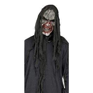 Fun World White Burnt Charred Burning Dead Zombie Mask