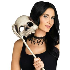 Fun World Skull Opera Lorgnette Costume Mask