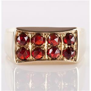 "Vintage 1960's 14k Yellow Gold Rose Cut ""AAA"" Garnet Cocktail Ring .64ctw"