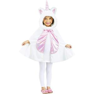 Fun World Girl's Pink and White Li'l Unicorn Cape Toddler Costume Fits up to 3T