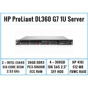 HP ProLiant DL360 G7 1U Server 2xSix-Core Xeon 2.53GHz + 36GB RAM + 4x300GB RAID