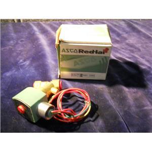 """Asco Red Hat 8030G10 Brass Solenoid Valve N/C 120/60 110/50 3/8"""" NPT"""