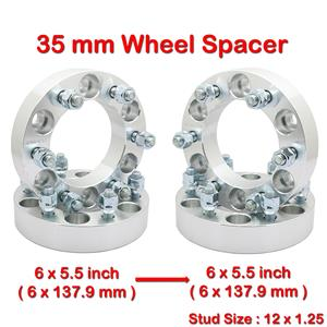 (4) 35 mm 6 Studs M12x1.25 PCD 6x139.7 to 6x5.5 Wheel Spacer Spacers For Nissan