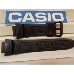 Casio Watch Band SGW-1000 -1A Triple Sensor Black Resin Strap. Watchband