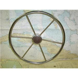 """Boaters' Resale Shop of Tx 1605 2774.07 STAINLESS 20"""" STEERING WHEEL- 3/4"""" SHAFT"""