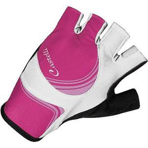 Castelli Women's Perla Due Glove Black/White/Pink Small
