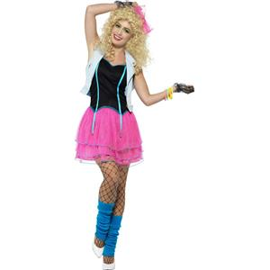 Smiffy's Women's 80's Wild Girl Adult Costume Medium 10-12