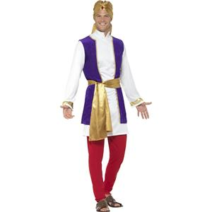 Smiffy's Arabian Prince Aladdin Bollywood Adult Men's Costume Size Large