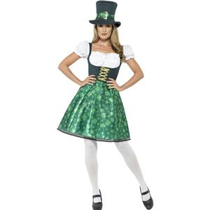 Smiffy's Women's Leprechaun Lass Sexy Irish Adult St Patrick's Costume X-Small