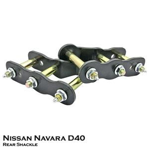 "2""inch Rear Extended Lift Up Greasable Shackles Fit NIssan Navara D40 05-15"