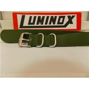 Luminox WatchBand 22mm Military Green Nylon 1 piece strap w/Two Steel Keepers