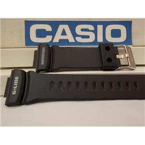 Casio Watch Band GLX-150 -1 G-Lide Tide Graph Black Rubber Strap. Watchband