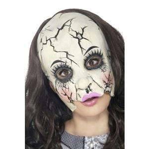 Smiffy's Damaged Broken Doll Adult Chinless Costume Mask