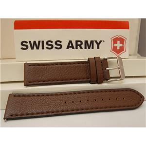 Swiss Army Watch Band Chrono Classic 20mm Stitched Brown Eco Tanned Leathr Strap
