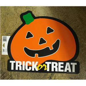 Trick or Treat Pumpkin Halloween Party Paper Wall Window Decoration