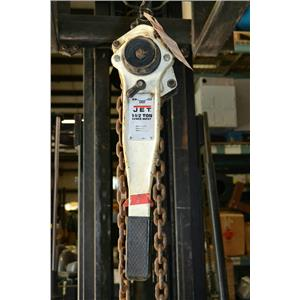 Jet 1-1/2 Ton Lever Chain Hoist With 15' Chain, JLP-150A-15