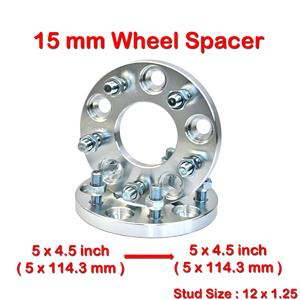 2 pcs 15 mm 5 Studs 12 x 1.25 PCD 5 x 114.3 to 5 x 114.3 mm Wheel Spacer Spacers