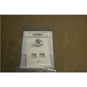 (Box of 35) Single Gang Flush Mount Wall Plate, 4-port White, 7-4P-W