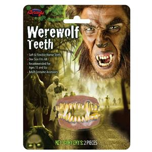Soft Flexible Werewolf Character Top and Bottom Teeth Costume Accessory