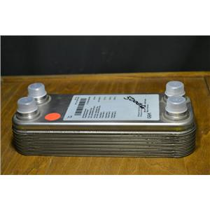 GEA WTT NP 2-14 Nickel Plated Brazed Plate Refrigerant Heat Exchanger 14 Plates