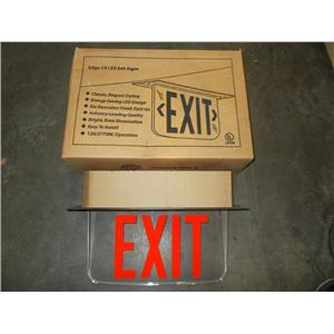 Hubbell Lighting LECSRXZE-XK LED Emergency Exit Sign; Single/Double side
